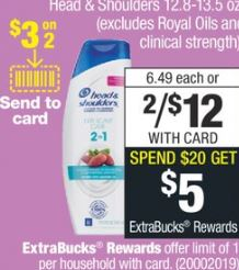 Head & Shoulders cvs deals