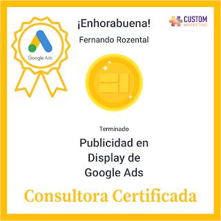 Certificado Google Ads Publicidad en Display