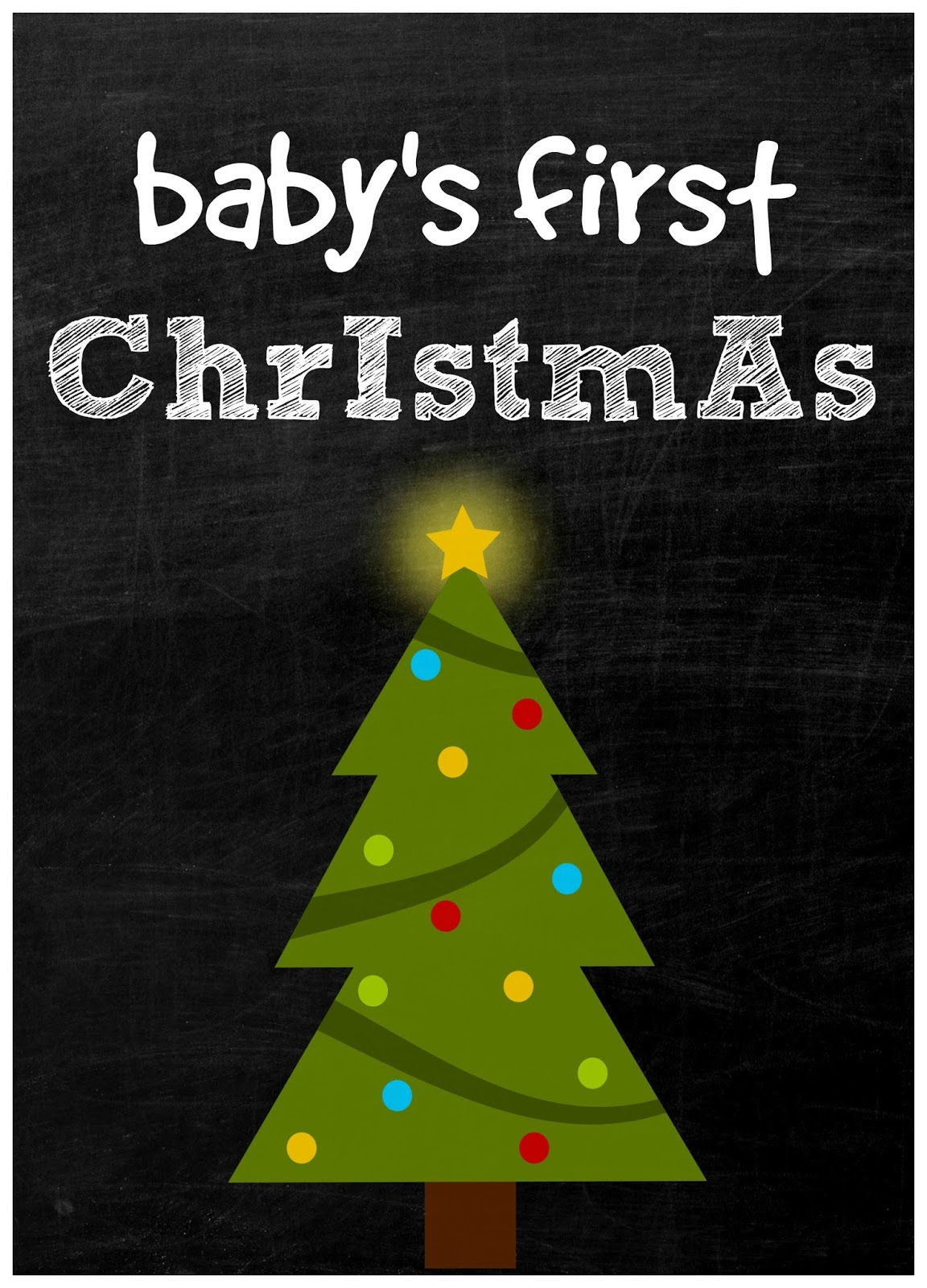 Crayon Freckles: Baby's First Christmas: Milestone Card ...