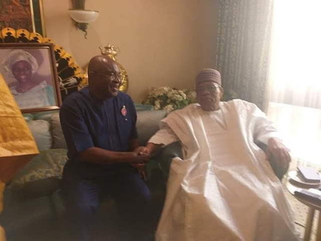 IBB Spotted With Ex-Senate President, David Mark, Amid Death Rumour