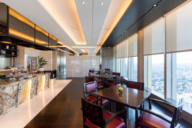 The Grand Club executive lounge of Grand Hyatt Manila