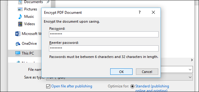 how to make a pdf file secure