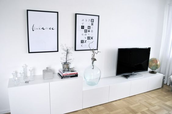 Decoraci n 15 composiciones de muebles tv con la serie - Ideas con muebles de ikea ...