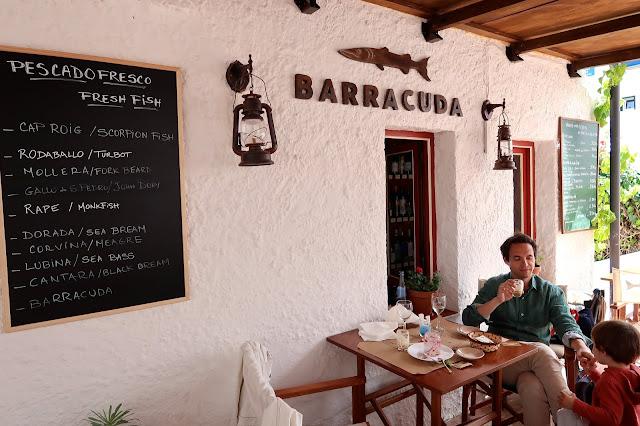 restaurante barracuda Menorca a golpe de objetivo