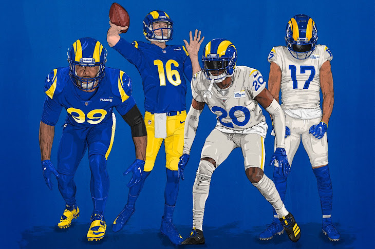 The Los Angeles Rams Unveil New Uniforms