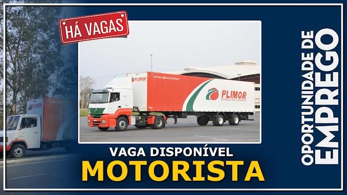 Transportadora Plimor está contratando Motorista Carreteiro