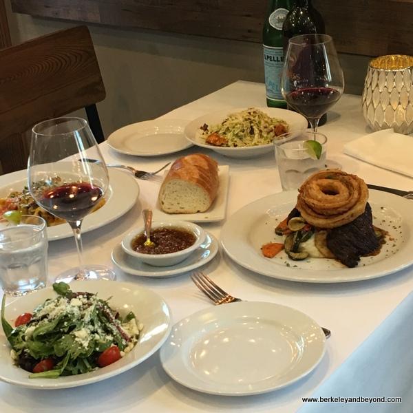 lunch table at Bella Siena restaurant in Benicia, California