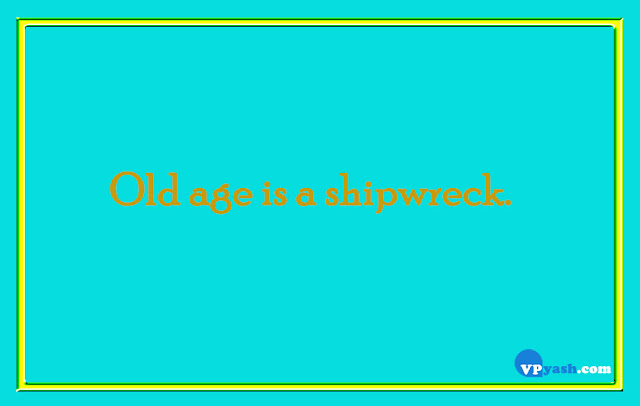 Old age is a shipwreck life quotes