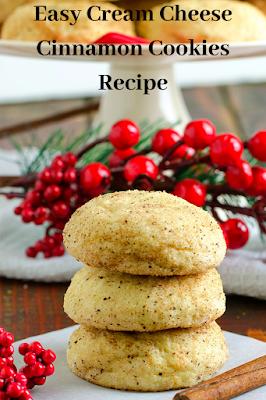 Easy Cream Cheese Cinnamon Cookies Recipe