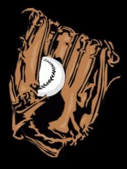 Illustration of baseball mitt with baseball in the pocket