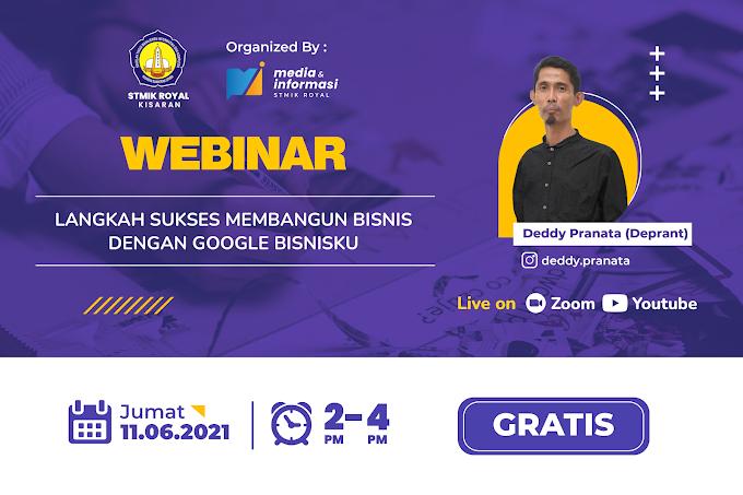 """Webinar """"Langkah Sukses Membangun Bisnis dengan Google Bisnisku"""""""