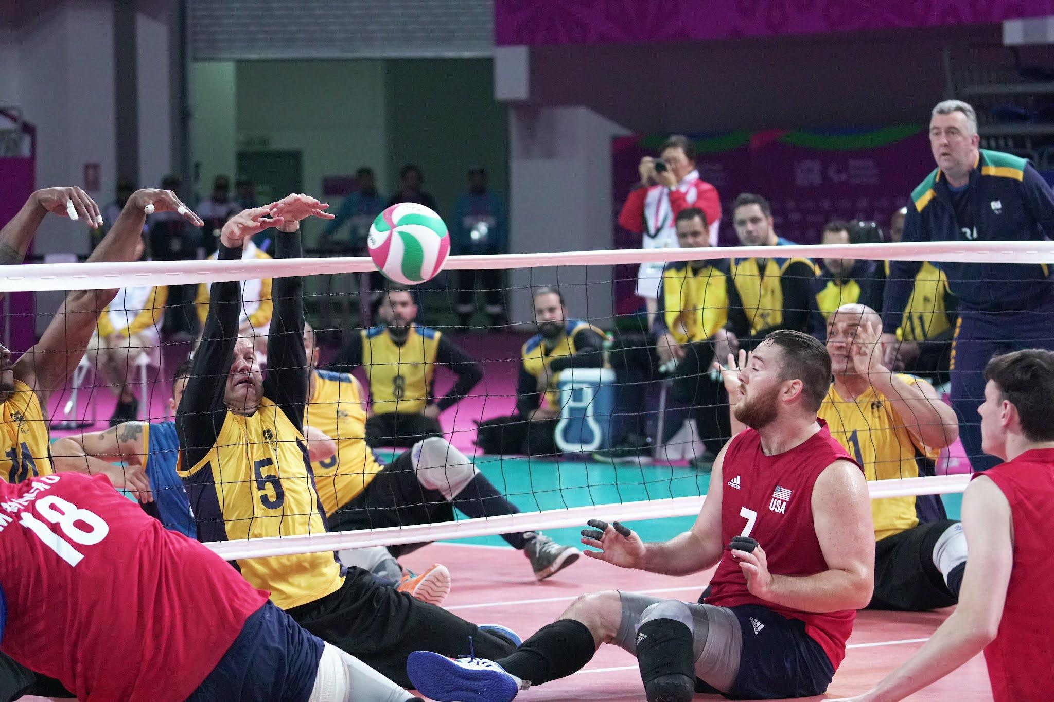 Jogadores da seleção brasileira de vôlei sentado