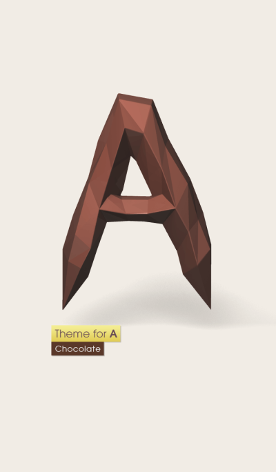 Theme for Initial A . [Chocolate]