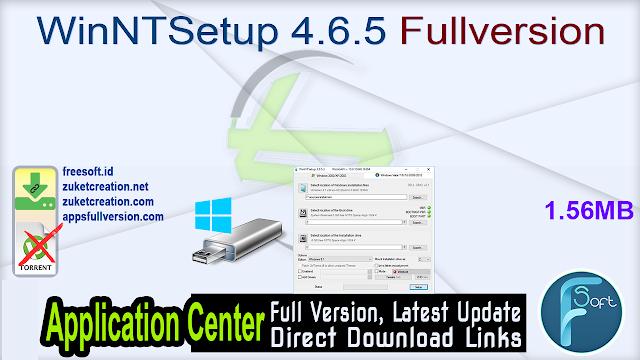 WinNTSetup 4.6.5 Fullversion