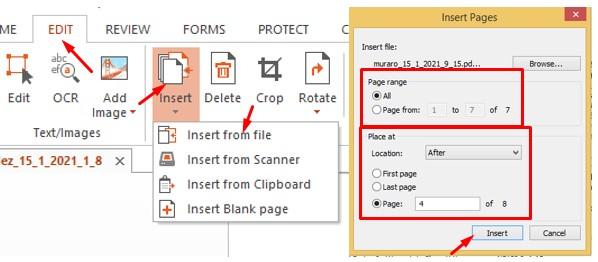 Cara Menyisipkan PDF ke PDF di Tengah Halaman