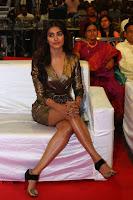 Pooja Hegde looks glamarous in deep neck sleevless short tight golden gown at Duvvada Jagannadham thank you meet function 167.JPG