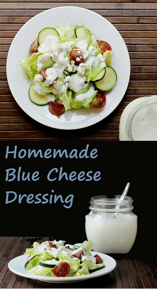 Home Made Blue Cheese Dressing - it's so easy!
