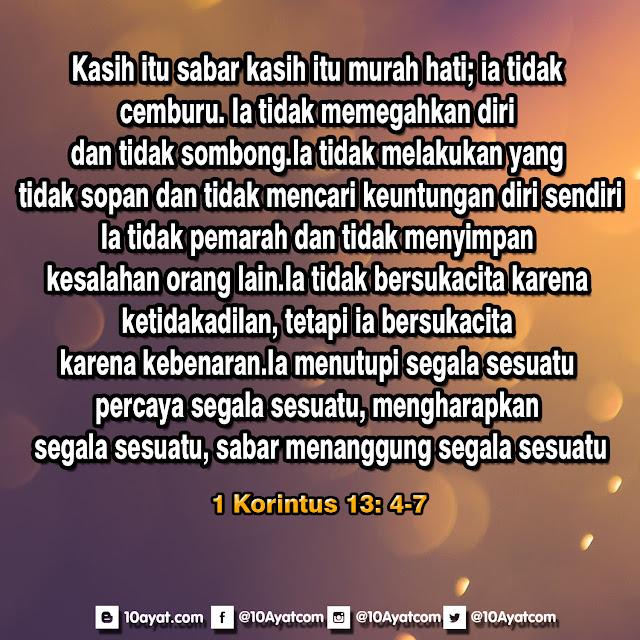 1 Korintus 13: 4-7
