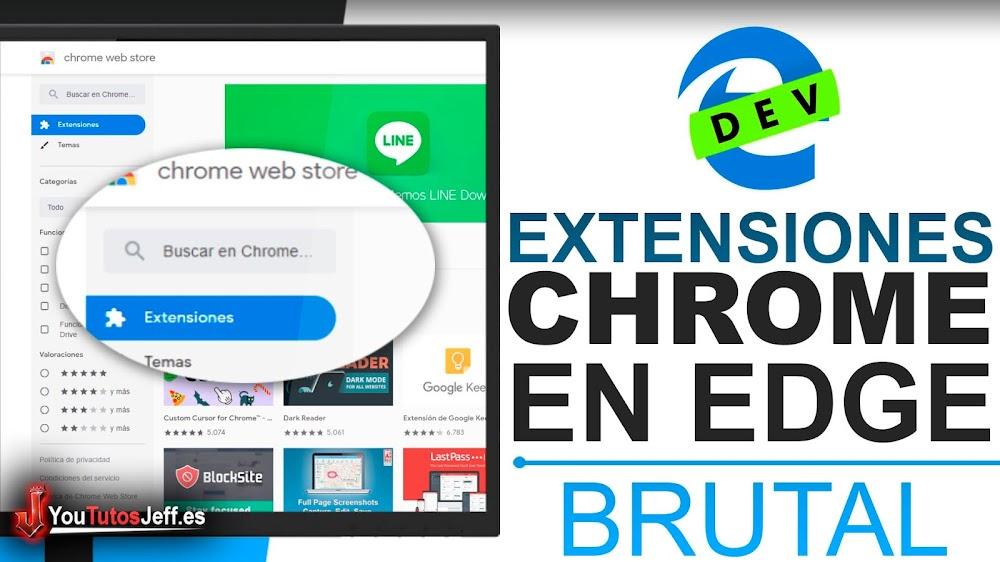 Instalar Extensiones de Chrome en Edge