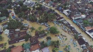damppak banjir pasca tsunami banten 2018