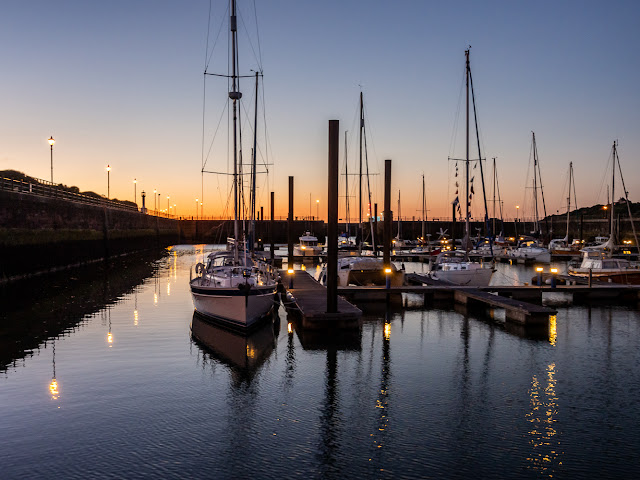 Photo of Maryport Marina just after sunset last night (Thursday)