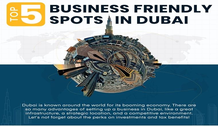 Top 5 Business-Friendly Spots in Dubai #Infographic