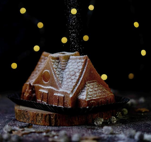 gingerbread cake , recette de Noël , trop bon , cake moelleux , moule Nordic ware