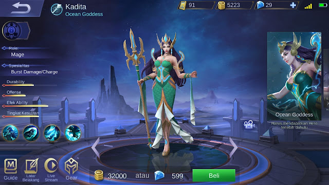 Mage Terkuat di Mobile Legends Season 11 Kadita