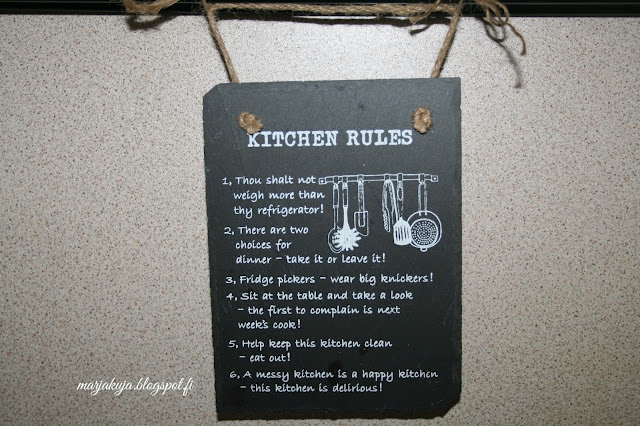 keittion taulu saannot