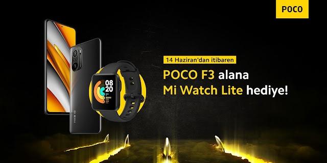 POCO F3 alana Mi Watch Lite hediye