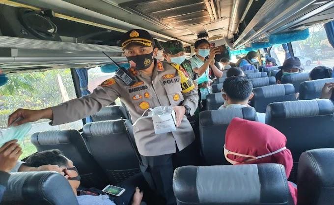 Kawal dan Amankan Aksi Buruh ke Jakarta, Polres Serang Himbau untuk Terapkan Protokol Kesehatan