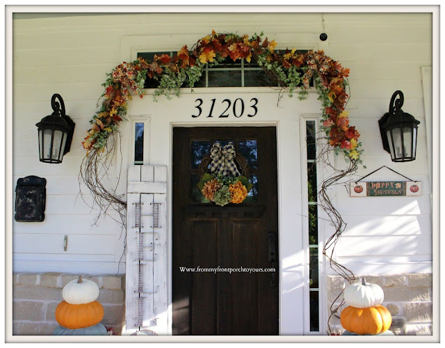 Fall- Porch-Leaf-garland-doorway-fall-decor-From My Front Porch To Yours