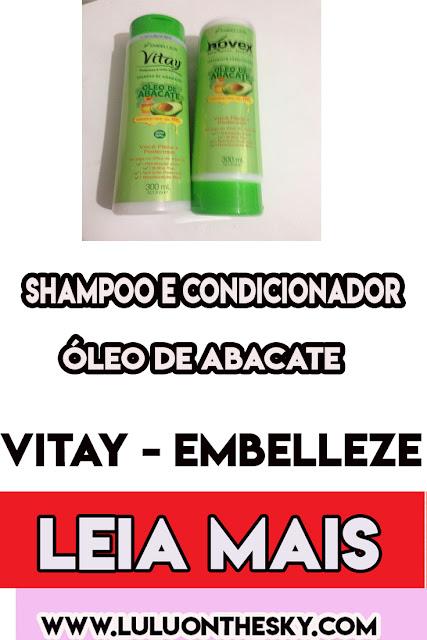 Shampoo e Condicionador  Vitay Óleo de Abacate - Embelleze