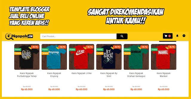 Template Online Shop Blogger Yang Keren Abis...!!