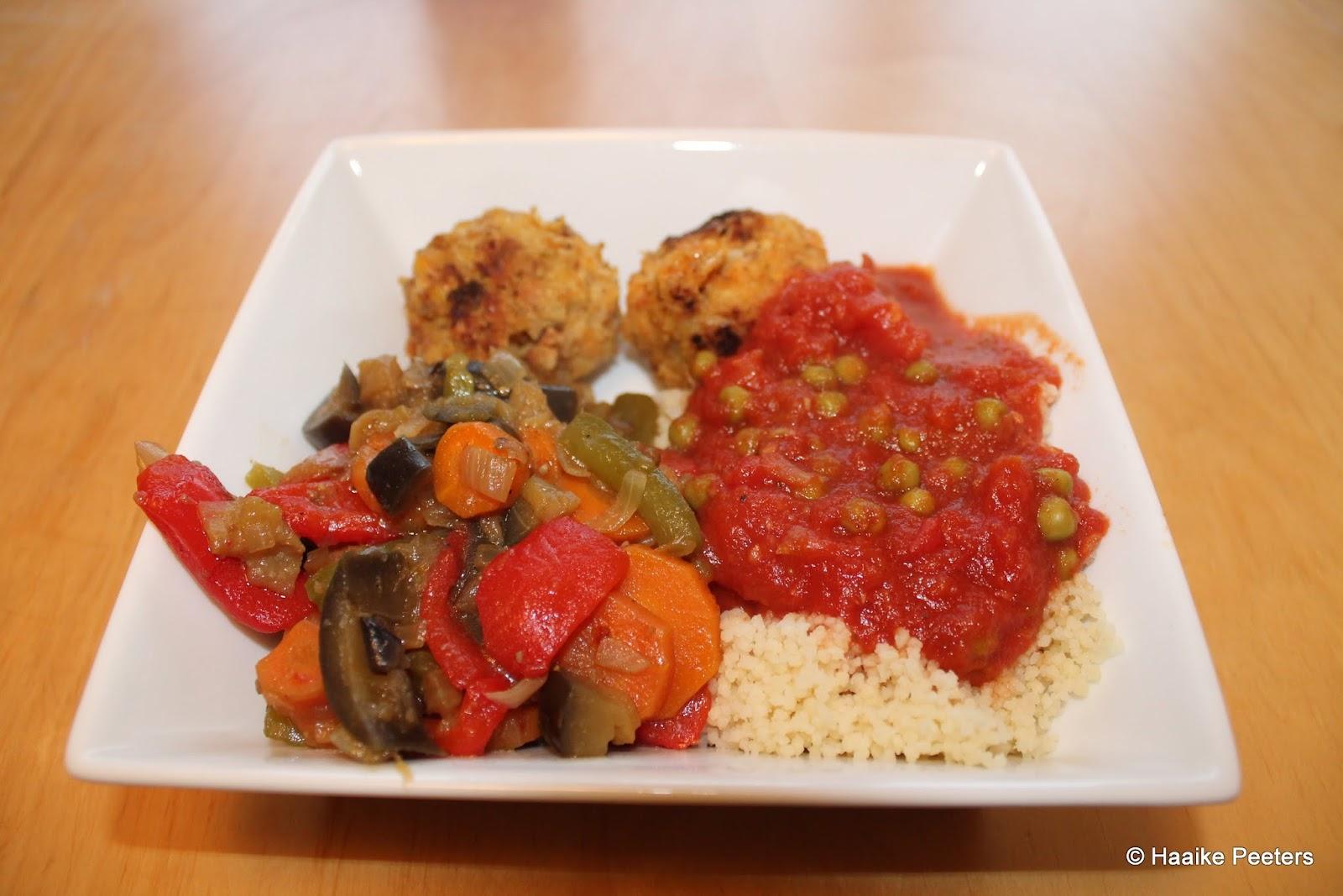 Vegetarische balletjes met couscous en groenten (Le petit requin)
