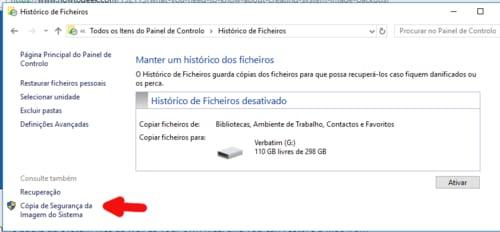 cópia de segurança do Windows