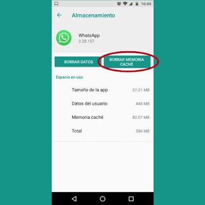 Borrar caché de WhatsApp-TuParadaDigital