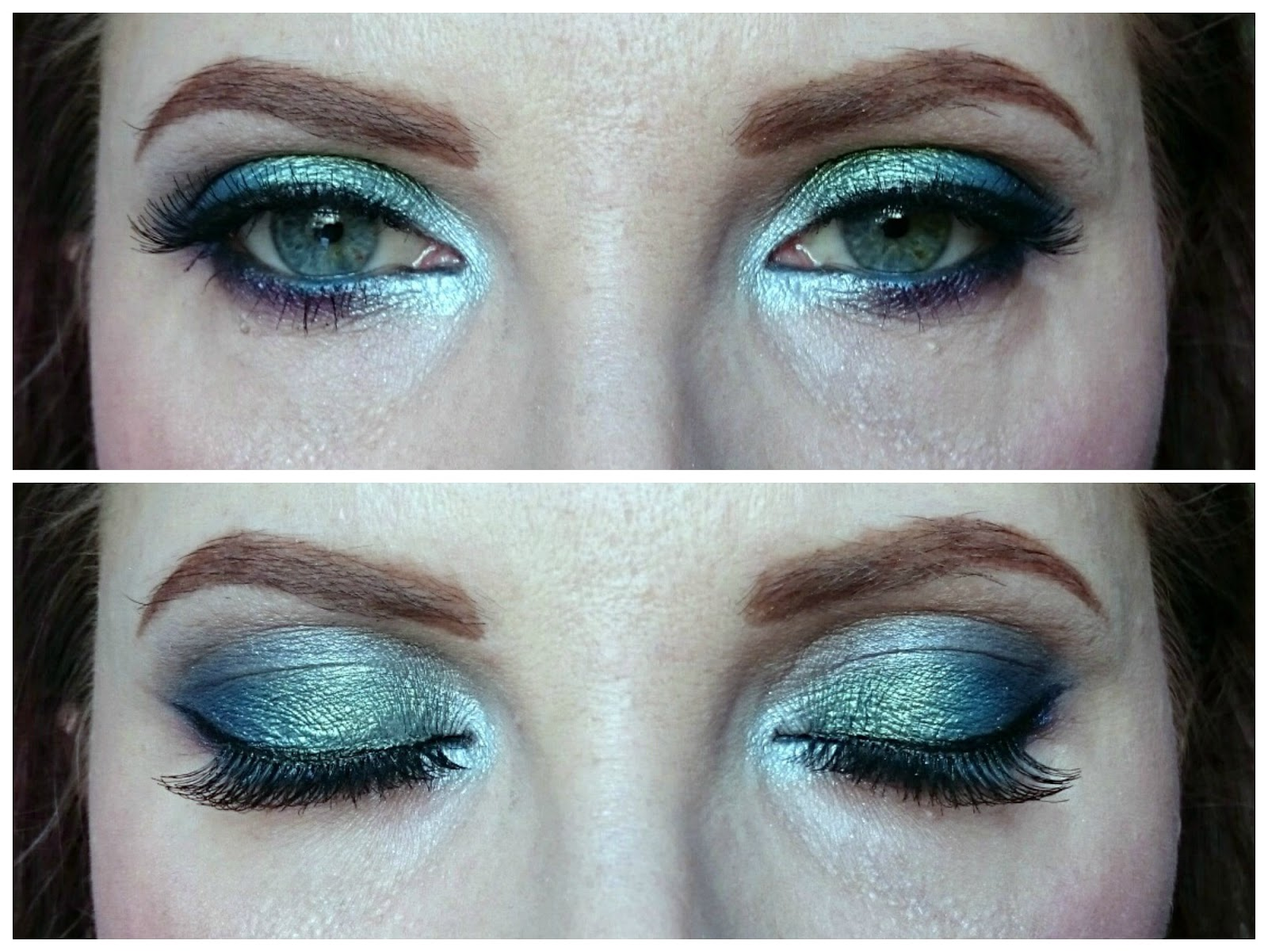 Mermaid eye makeup look