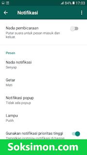 Setting notifkasi WA tanpa aplikasi