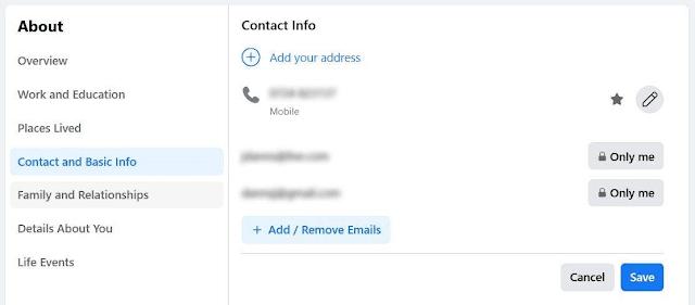 إخفاء عنوان بريدك الإلكتروني من قائمة أصدقائك