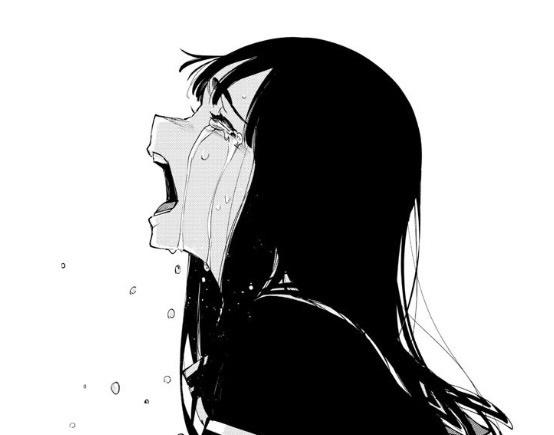 anime girl depressed