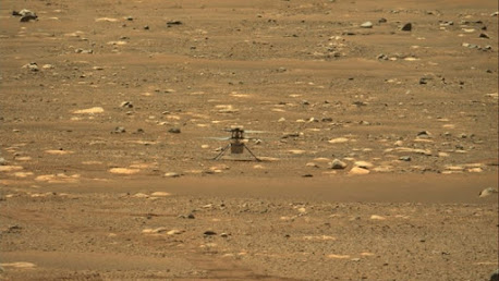 NASA helicopter Ingenuity makes historic first flight on Mars