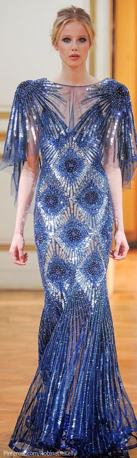 gorgeous blue Zuhair Murad gown, F/W 2013