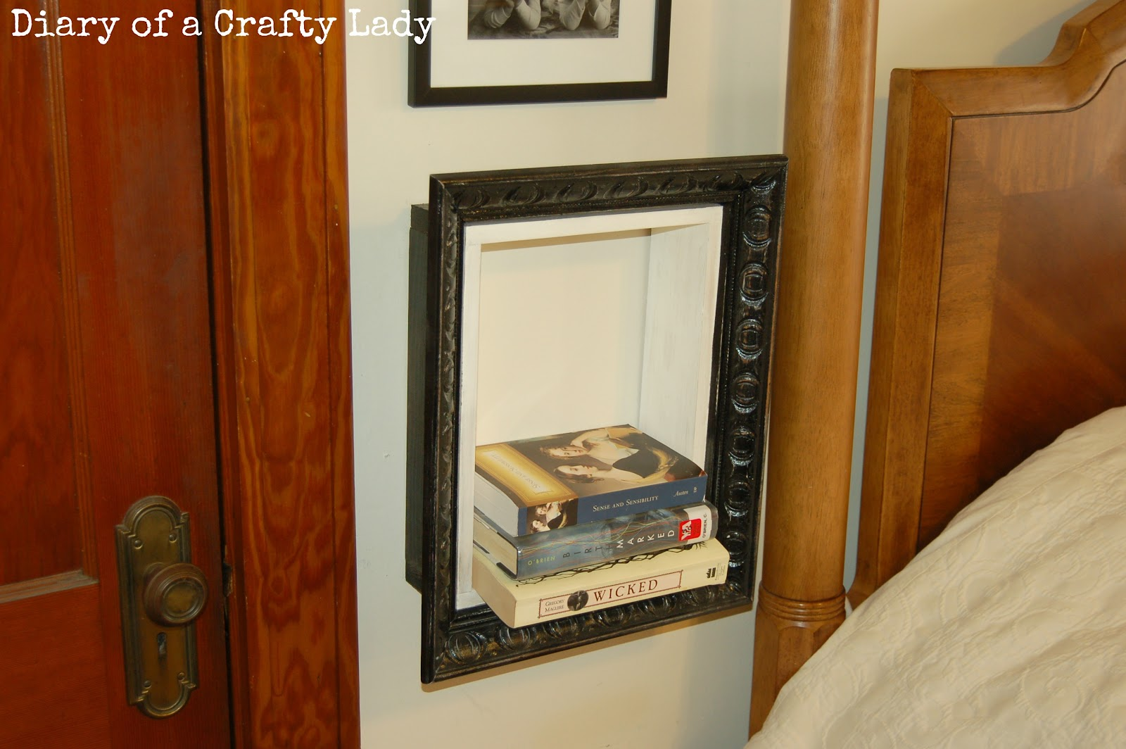 Diary of a Crafty Lady: Picture Frame Book Shelf