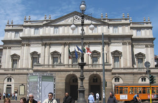 La Scala opera house is located in the heart of Milan
