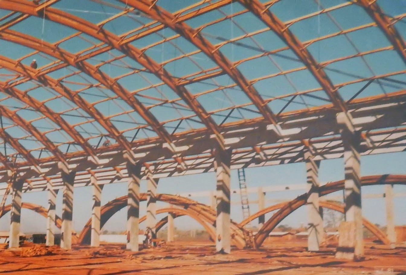 Construção da fábrica da Quimbrasil em Uberaba, Minas Gerais.