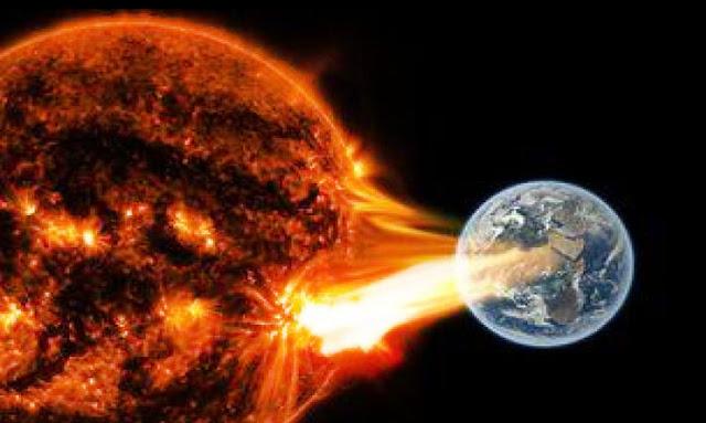 عاصفة شمسية في طريقها للأرض