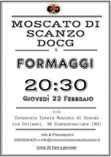 Moscato & Formaggi 23 febbraio Scanzorosciate (BG)