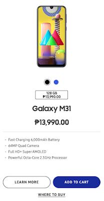 Samsung Galaxy M31 Store