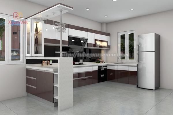 Mẫu tủ bếp đẹp bằng nhựa cao cấp Xuyên Việt